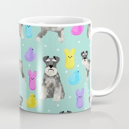 Schnauzer dog breed peeps marshmallow easter spring dog pattern gifts schnauzers Coffee Mug