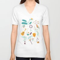 adventure V-neck T-shirts featuring Adventure  by Wharton