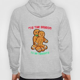 Naughty Gingerbread Couple Christmas Present funny Hoody