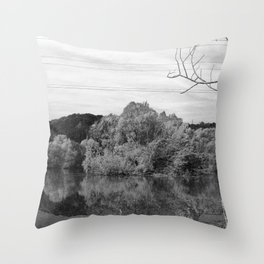 Fantastic landscape Austria 23 B&W Throw Pillow