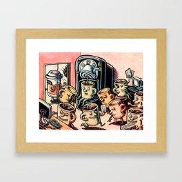 Coffee Mug People in Office Framed Art Print