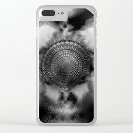 Shamanic Duality of the Mind Clear iPhone Case
