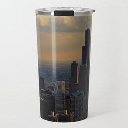 The Skyline at Dusk: From the Hancock (Chicago Architecture Collection) Travel Mug