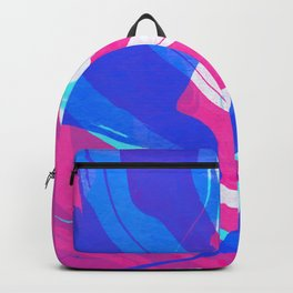 Watercolor abstract painting Backpack