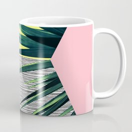 Geometric Leaves Coffee Mug