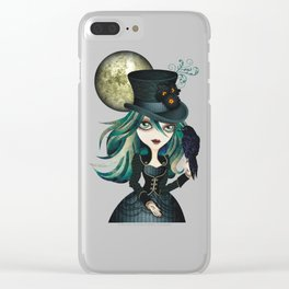 Raven's Moon Clear iPhone Case