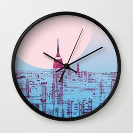 Sun In The City Skyline Design Wall Clock