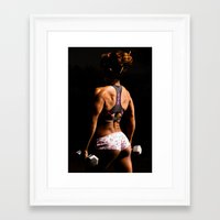 fitness Framed Art Prints featuring Fitness by Eric Lauritzen