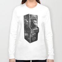 donkey kong Long Sleeve T-shirts featuring DONKEY KONG ARCADE MACHINE by UNDEAD MISTER / MRCLV