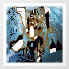 Pieces of White Art Print
