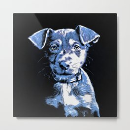 Pop Art Mutt Puppy Metal Print