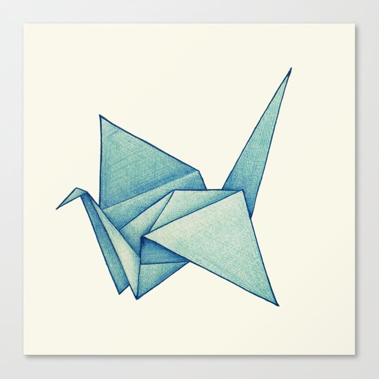 High Hopes | Origami Crane Canvas Print
