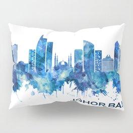 Johor Bahru Malaysia Skyline Blue Pillow Sham