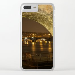 Under the Charles Bridge Clear iPhone Case