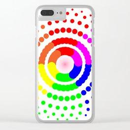 Circular LGBT Pattern Clear iPhone Case