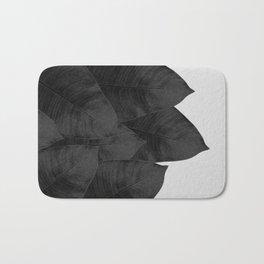 Banana Leaf Black & White I Bath Mat