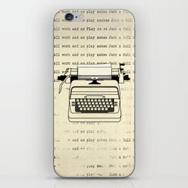 All work and no play II iPhone Skin