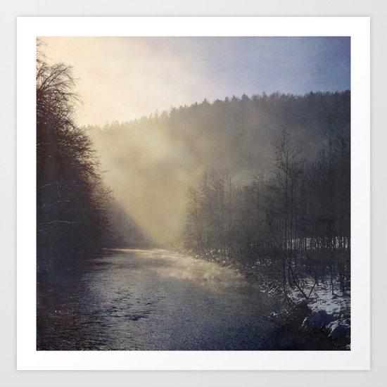 Moody River Art Print