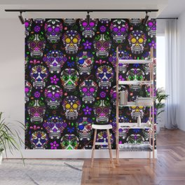 Candy Skulls Wall Mural
