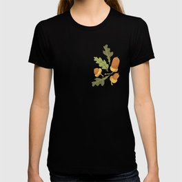 Autumn Forest Leafs and Mushrooms - Red T-shirt