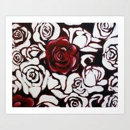 War of Roses Painting Art Print