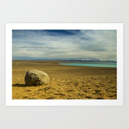 Lonely Rock Art Print