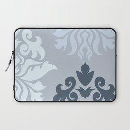 Ornate Damask Art I – Blues (A) Laptop Sleeve