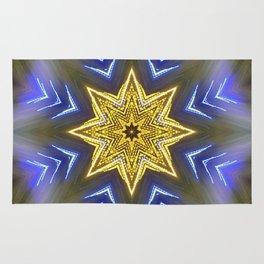 Glistening Golden Star Rug