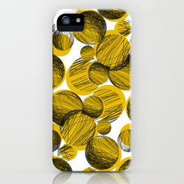 Squiggle Circle Repeat [yellow] iPhone Case