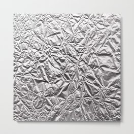 Silver Paper Metal Print