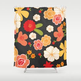 Farmers Market Floral Shower Curtain
