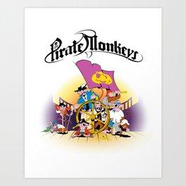 Pirate Monkeys Art Print