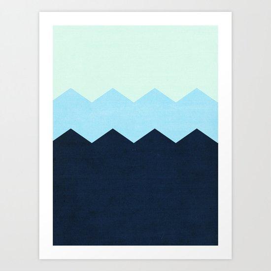 triple chevron (3) Art Print