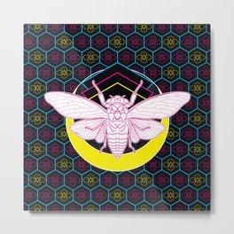 Geometric Cicada Metal Print