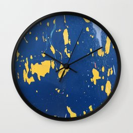 Meteor Shower as Seen on the Hull of a Boat Wall Clock