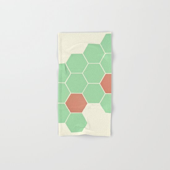 Mint Honeycomb Hand & Bath Towel