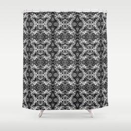ZedEx Black Shower Curtain