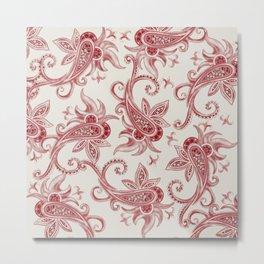 Paisley: Vintage RED  Metal Print