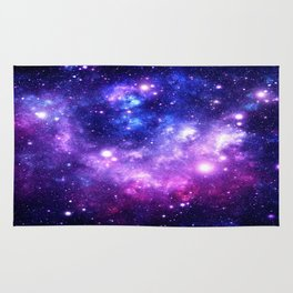 Purple Blue Galaxy Nebula Rug