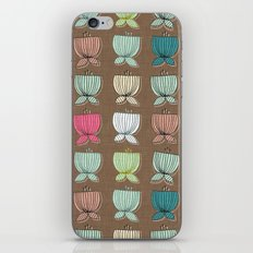 flower cups brown iPhone & iPod Skin
