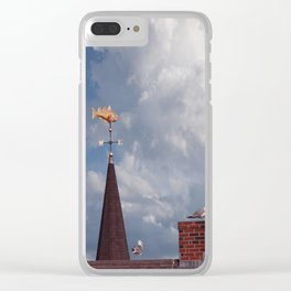 Seagulls on the roof Clear iPhone Case