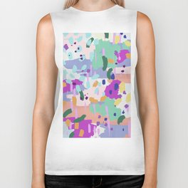Oil Abstract I Biker Tank