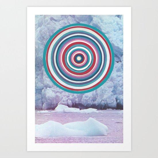 Warm Ice Art Print