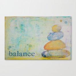 Balance pebbles Canvas Print