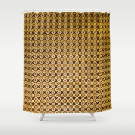 Gold and wood carving pattern Shower Curtain