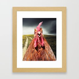 Rise and Shine - Whimsical rooster series #2 Framed Art Print