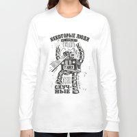 bukowski Long Sleeve T-shirts featuring bukowski robot by Triptih