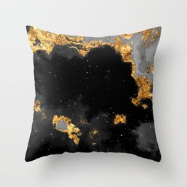 100 Starry Nebulas in Space Black and White 026 (Portrait) Throw Pillow