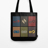 infinite Tote Bags featuring Infinite by Sara Eshak