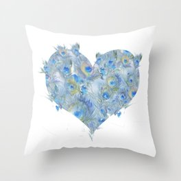 Feather Heart Throw Pillow